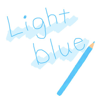 하늘색 색연필