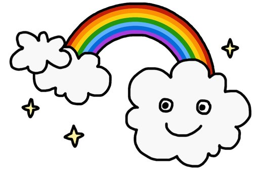 Cloud and rainbow 2