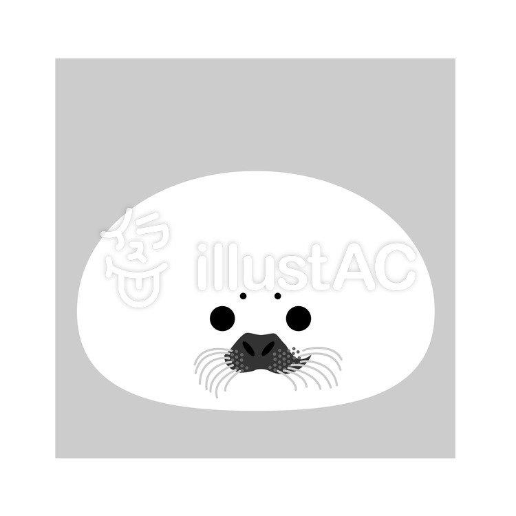 アザラシの顔イラスト No 170679無料イラストならイラストac
