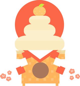 Kagami cakes and Hinomaru