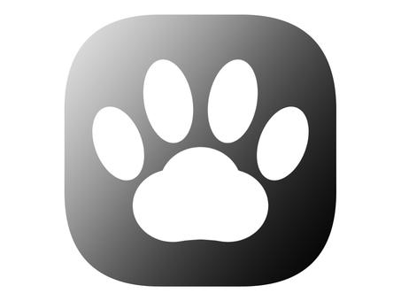 Paws icon black