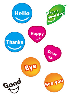 Greeting Icon Set (English)