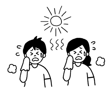 Heat stroke · fever Men and women (simple)