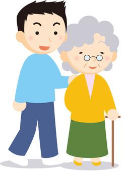Granny and men