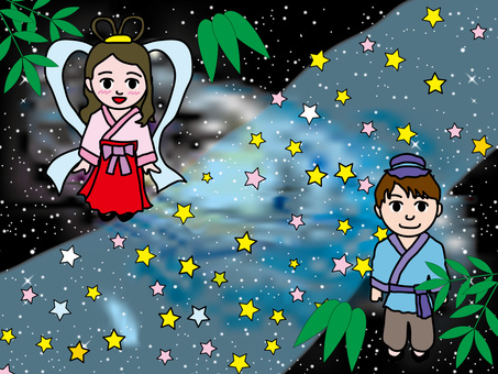 Tanabata Festival (3) Orihime and Hikaria and the Milky Way