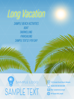 Vacation Vertical Flyer Template