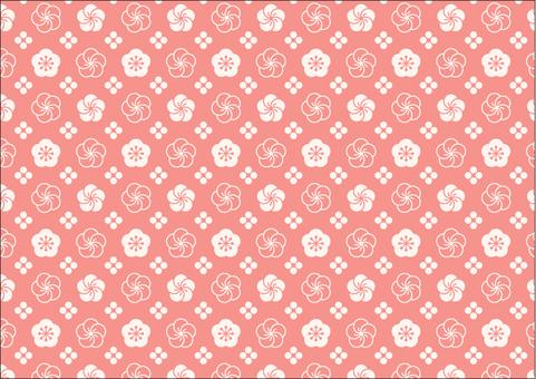 Plum flower pattern 2