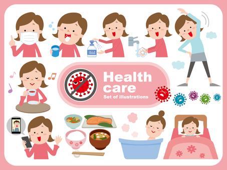 감염 건강 관리 세트 .2