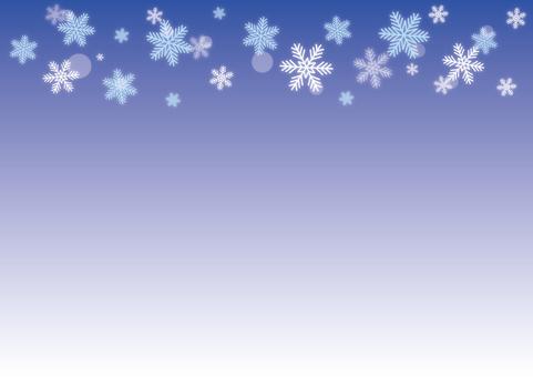 눈송이 하늘색 × 블루