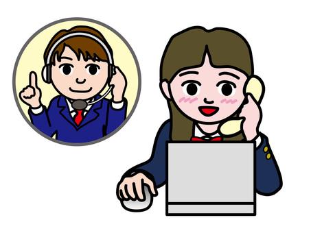 PC操作(970)電話支持高中女生