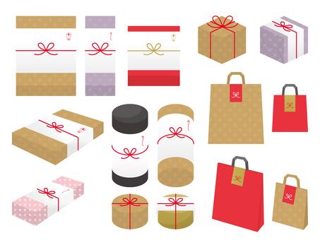 粗品・贈り物のイラスト集