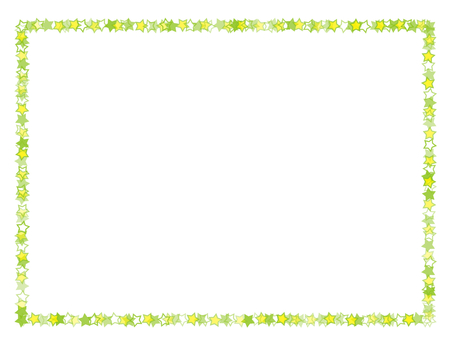 Simple star frame (yellow green)