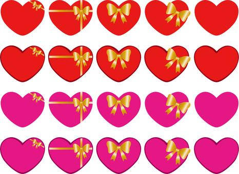 Heart ribbon gift gift gift