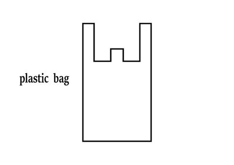 Plastic bag icon
