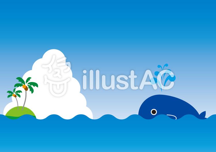 クジラの背景(CS2)のイラスト