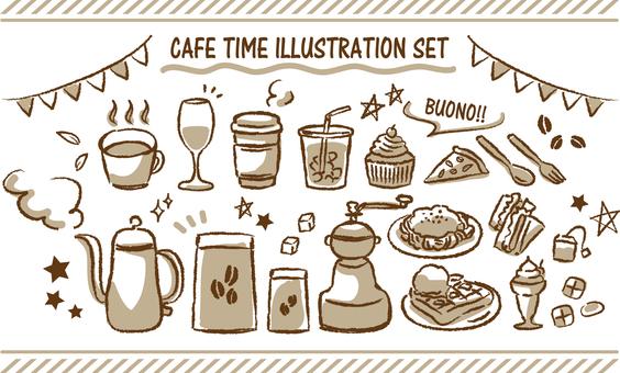 カフェ 手描きセット