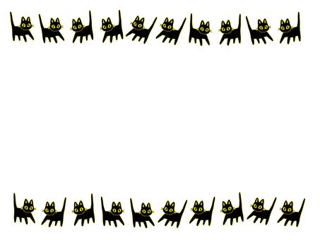 심플한 검은 고양이 프레임