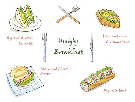 Sandwich Burgers Pen Color