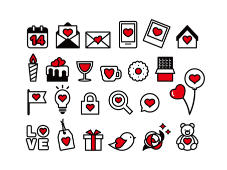 Valentine's icon stylish