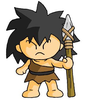繩文人石長矛
