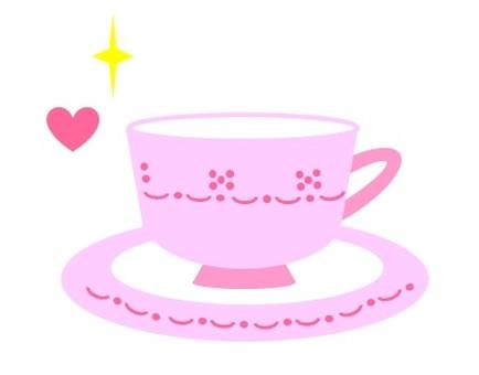찻잔 핑크