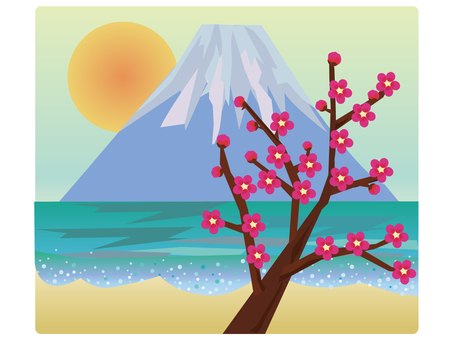 Fuji and plum