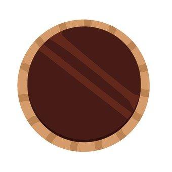 塗有巧克力餅乾