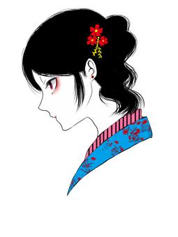 Side profile beauty