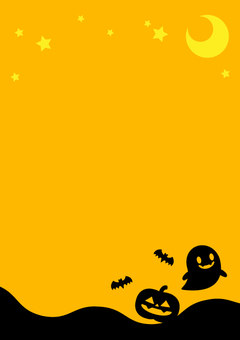 萬聖節背景(簡單)橙色垂直