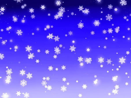 Falling snow winter night snowflakes