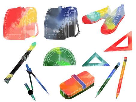 School watercolor