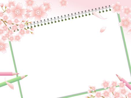 80219.桜とスケッチブック2
