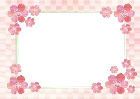 Sakura _ lattice_ Japanese paper background