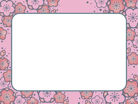 매화 무늬 프레임 5
