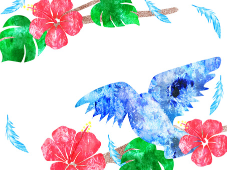 Blue Bird _ Hibiscus _ Rough 01