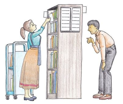 Library librarian and user