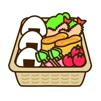 Onigiri lunch box (basket)