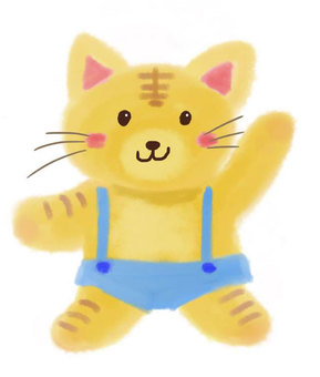 Cute cat illustration