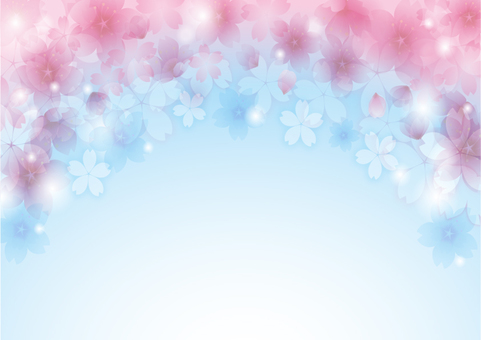 Sky and cherry background