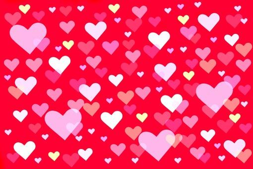 Heart full of red