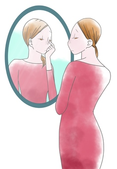 Women suffering from pores