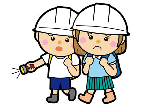 Male and female 25_01 (refuge and disaster prevention)