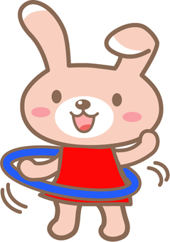 Hula hoop rabbit