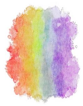 Rainbow-colored watercolor wallpaper · Vertical