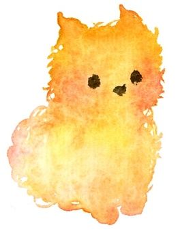 Watercolor style small dog