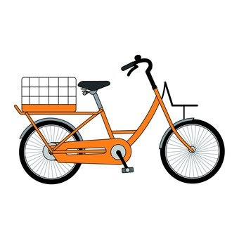 Back basket bicycle