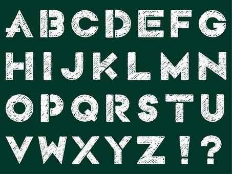 Alphabet blackboard handwriting
