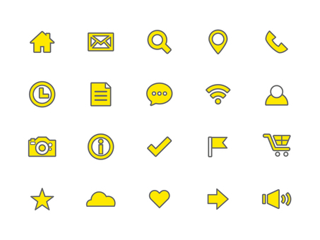Icon set (outline)