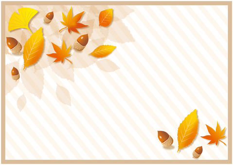Fallen leaves and tree nut background 2