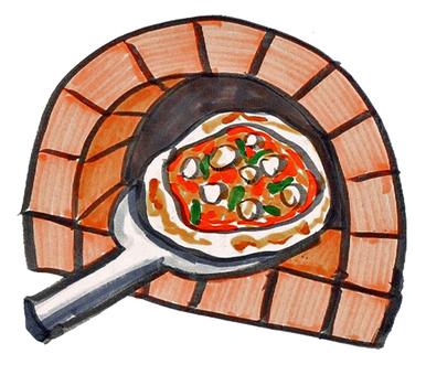 Stone oven pizza